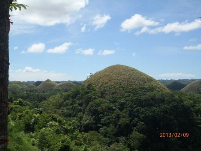 A view of the Chocolate Hills in Bohol, an island southwest of Cebu.