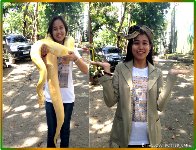 Selfie with the snakes!