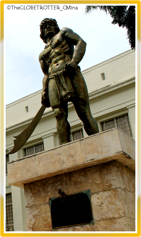 Lapu-Lapu statue symbolizes Cebuanos bravery. It can be found in the Capitol grounds.