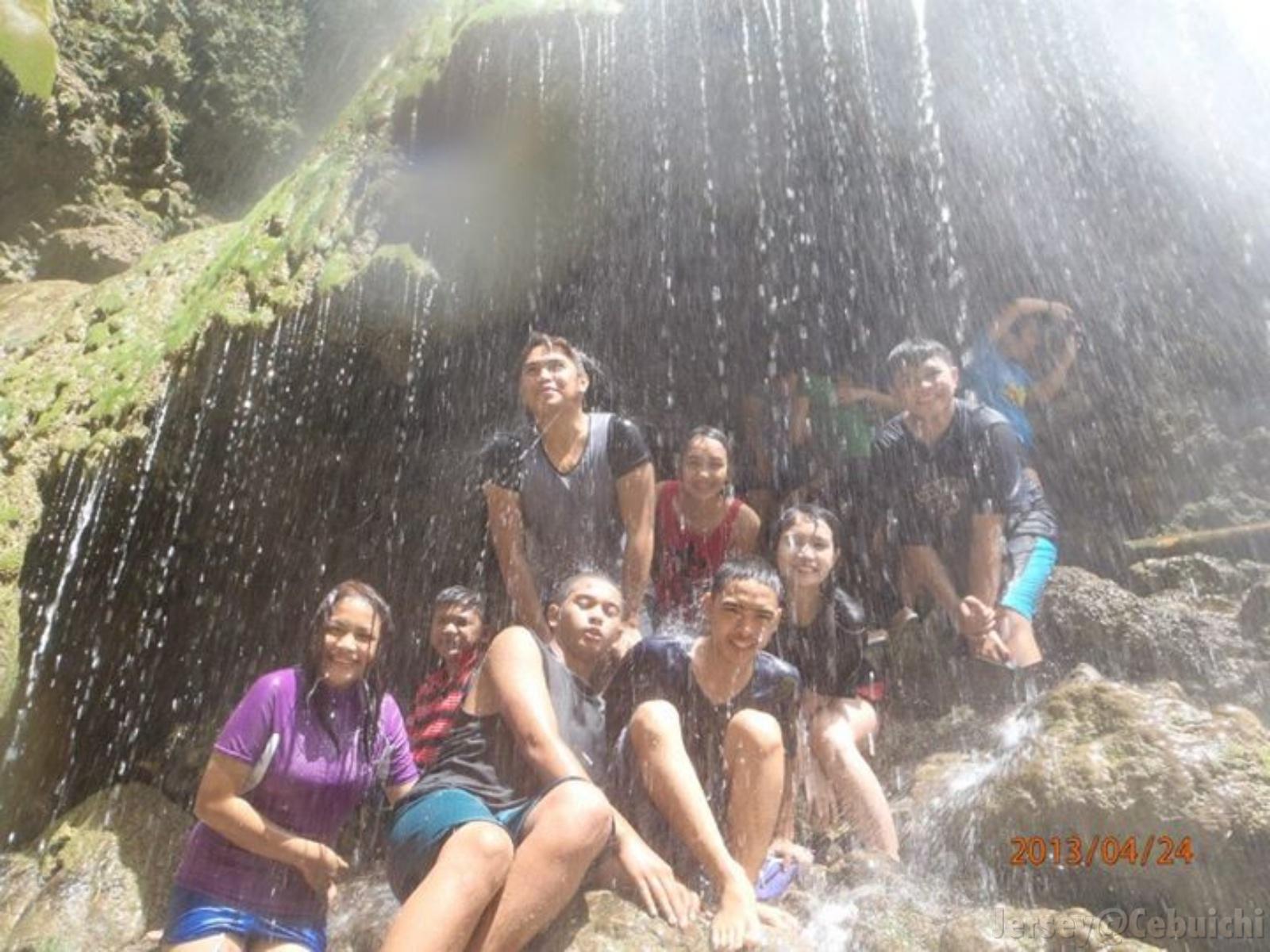 Enjoying the falls.