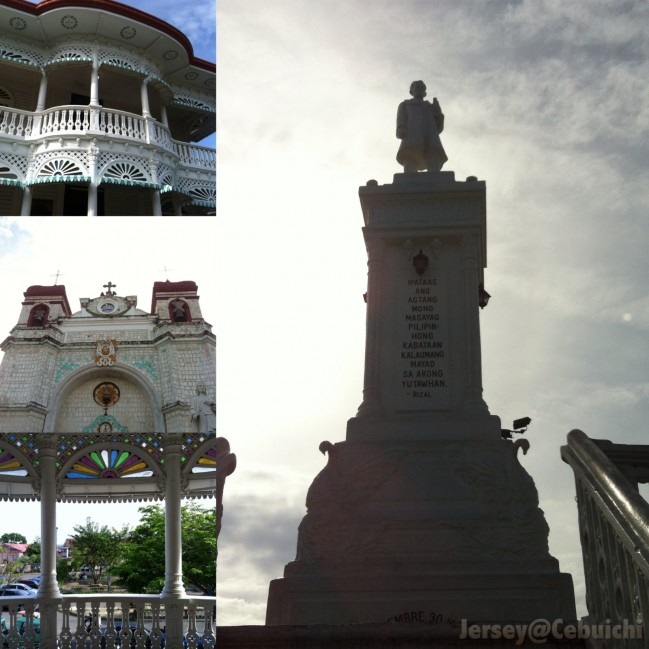 Various tourist spots in Carcar.