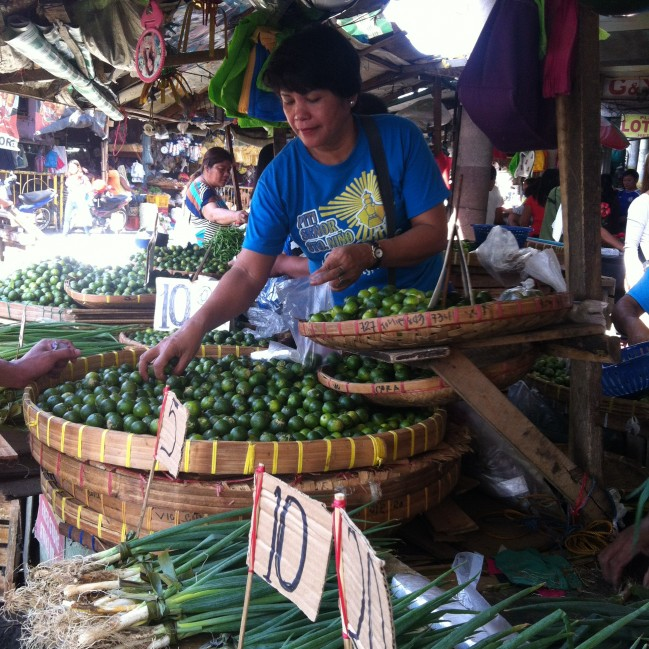 A bustling city market.
