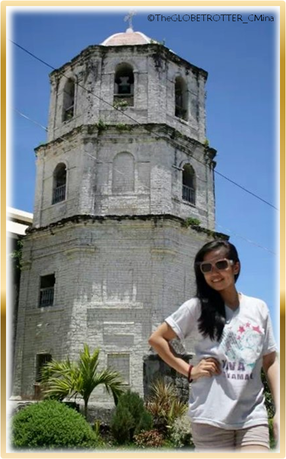 MY PICTURE OUTSIDE THE CHURCH'S BELFRY.