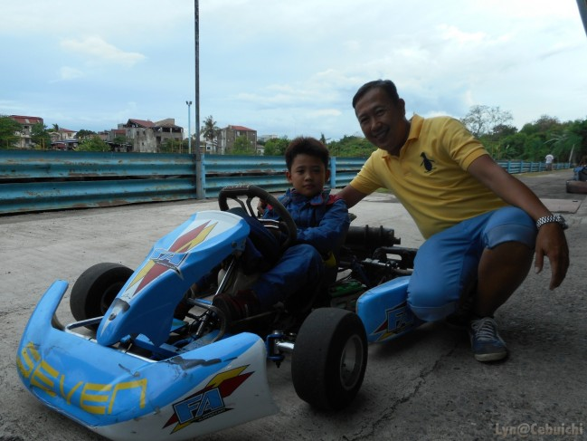 Like son, like father! Race car duo for the win.