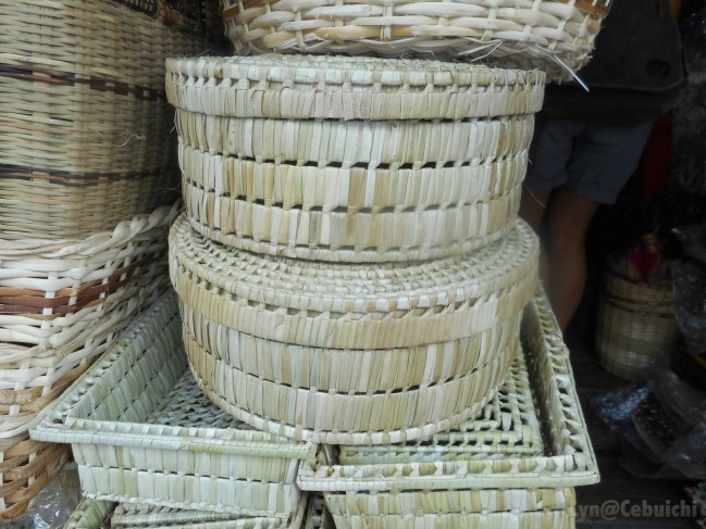 Handmade baskets from Bohol.