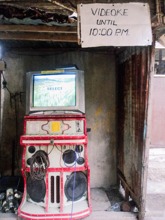 Old school coin-operated karaoke machine