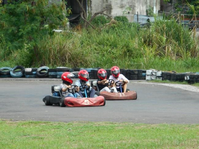 Karting buddies.