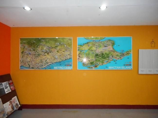 The map of Cebu and Mactan Island.