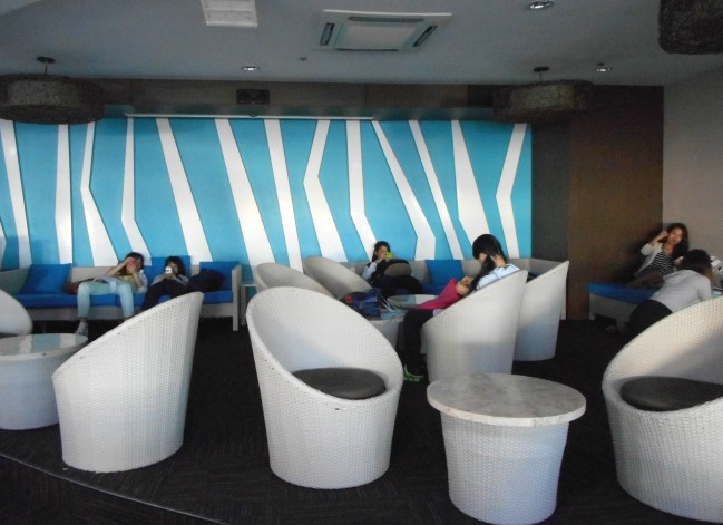 Lounging space for students.