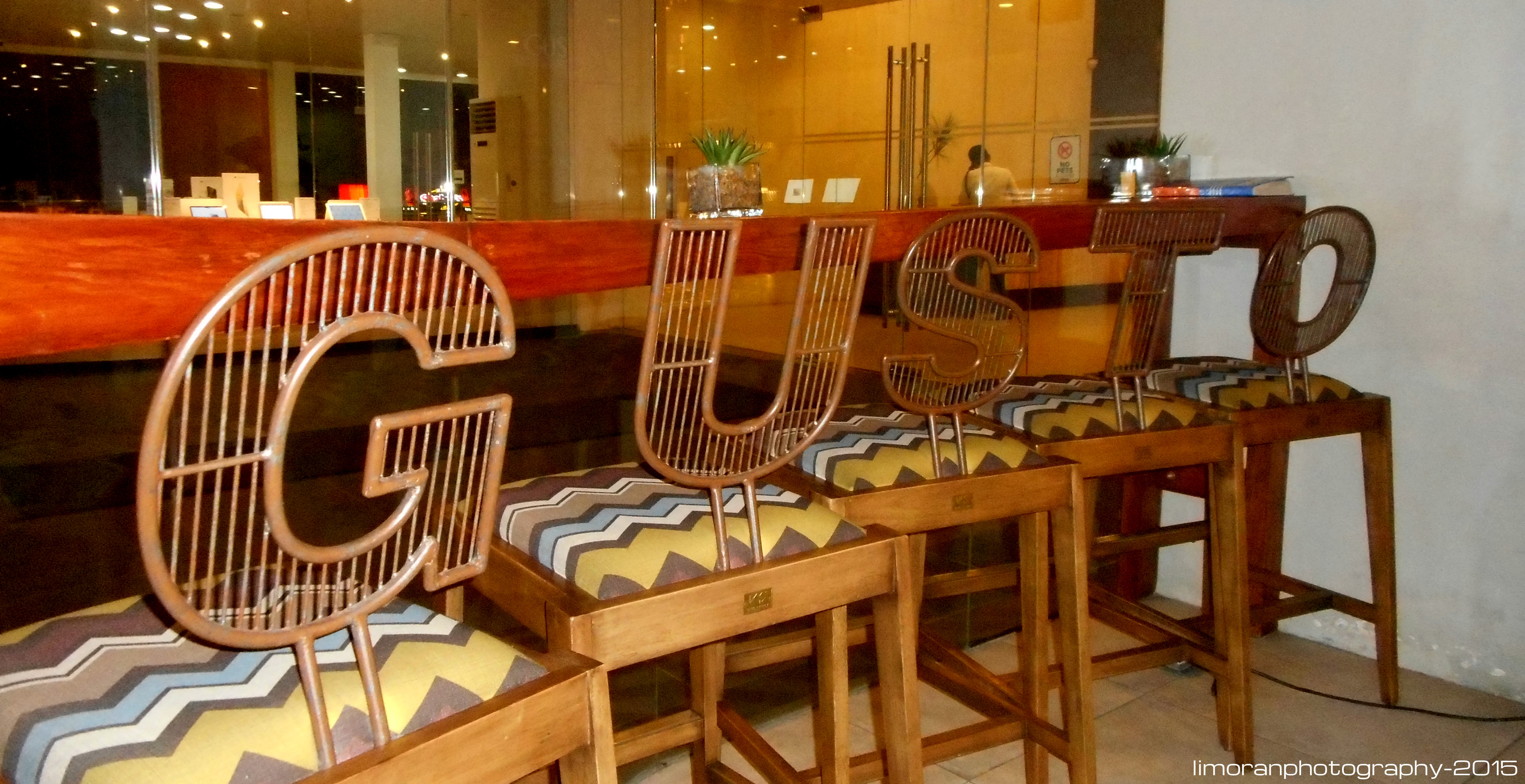 Personalized Gusto chairs.