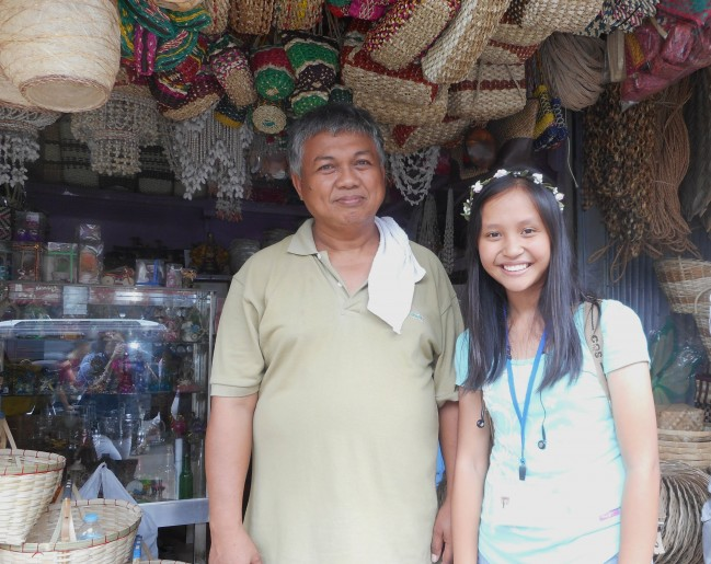 With Mr. Cris Tora, the souvenir shop owner.