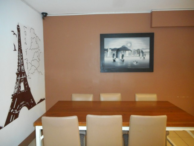 An example of a table setting in the canteen.