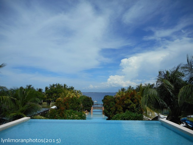 The breathtaking view of the ocean and a part of the resort's premises.