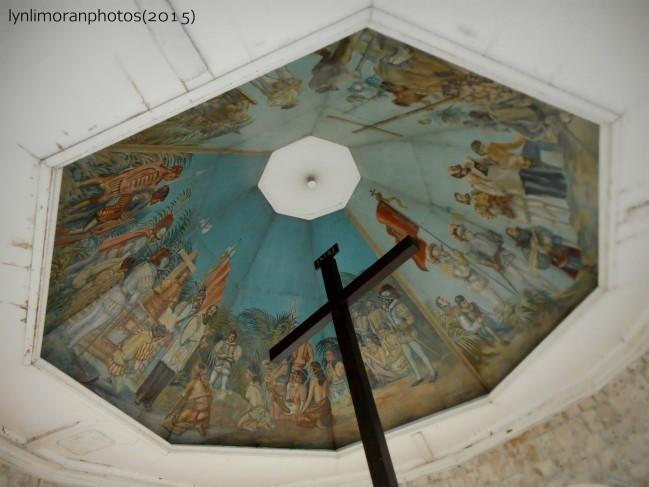王子の洗礼を描いた天井画