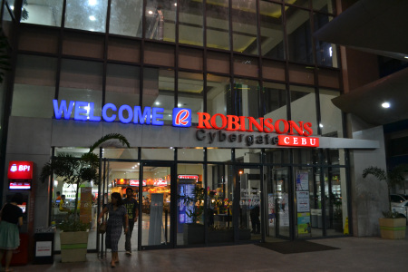Main entrance of Robinsons Cybergate