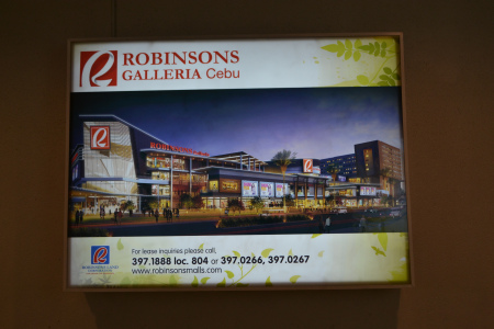 An artist's rendition of the anticipated Robinsons Galleria Cebu