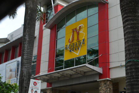 One of the many facades of JY Square Mall