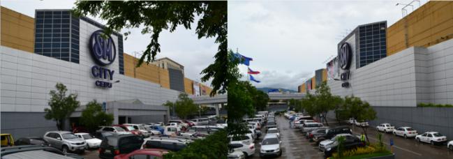 The main facade of SM City Cebu