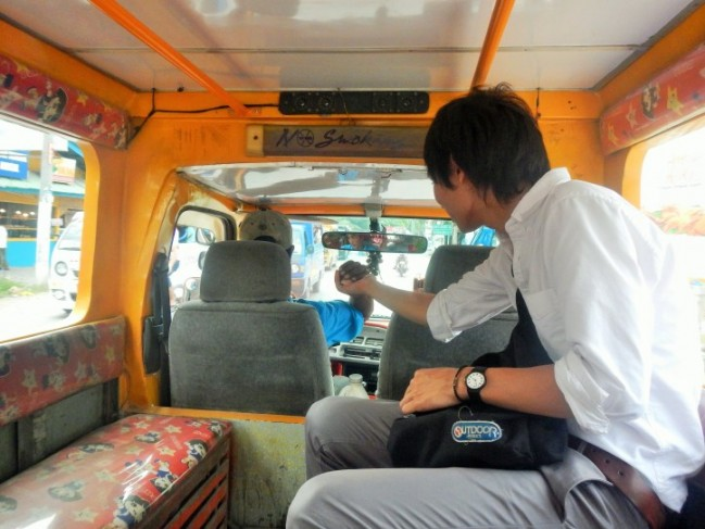 "The jeepney driver handed Keita his change. ""Salamat, Kuya!"""