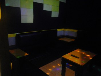 Here's an empty room, with the disco lights emphasized.