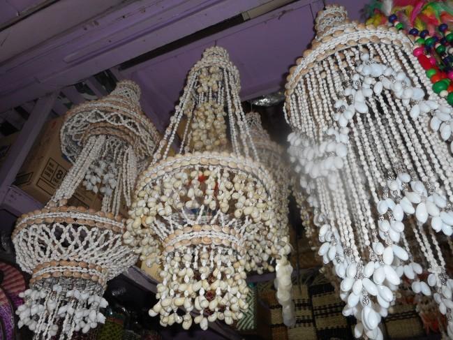 貝殻の装飾品