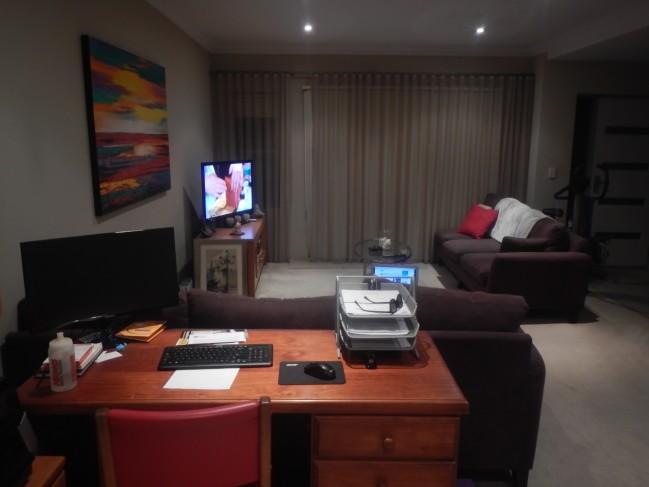 シドニーで2週間お世話になったストーンズ家のリビング。